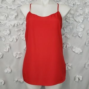 J. Crew Red Racerback Camisole Size 6